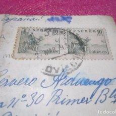 Postales: POSTAL CENSURA MILITAR GUERRA CIVIL ESPAÑOLA 1939 CARTA A UN SOLDADO . Lote 68399073