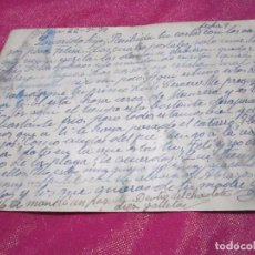 Postales: POSTAL CENSURA MILITAR GUERRA CIVIL ESPAÑOLA 1939 CARTA A UN SOLDADO . Lote 68400245