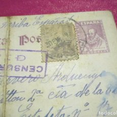 Postales: POSTAL CENSURA MILITAR GUERRA CIVIL ESPAÑOLA 1939 CARTA A UN SOLDADO ESTAFETA 17 . Lote 68401781