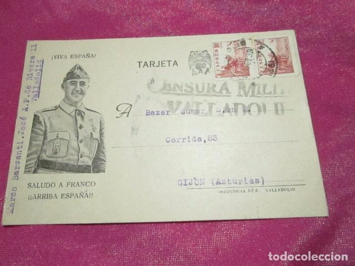 POSTAL CENSURA MILITAR GUERRA CIVIL ESPAÑOLA 1939 (Postales - Postales Temáticas - Guerra Civil Española)