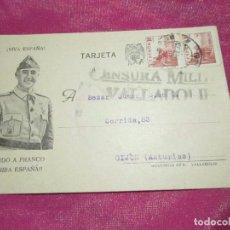 Postales: POSTAL CENSURA MILITAR GUERRA CIVIL ESPAÑOLA 1939. Lote 68402785