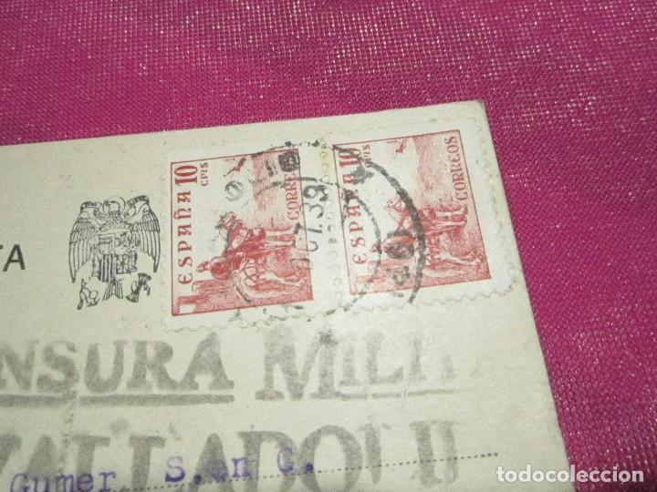 Postales: POSTAL CENSURA MILITAR GUERRA CIVIL ESPAÑOLA 1939 - Foto 3 - 68402785