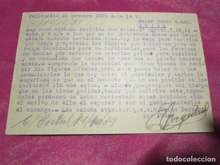 Postales: POSTAL CENSURA MILITAR GUERRA CIVIL ESPAÑOLA 1939 - Foto 4 - 68402785