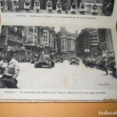 Postales: ANTIGUA COLECCION COMPLETA DEL DESFILE DE LA VICTORIA EN VALENCIA CON FRANCO - MAYO DE 1939. Lote 72030771