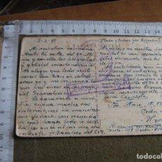 Postales: POSTAL CIRCULADA DESDE FIGUERAS A HUELVA CON FRANQUICIA 2 BRIGADA 73 DIVISIOY Y CENSURA MILITAR. Lote 73087699