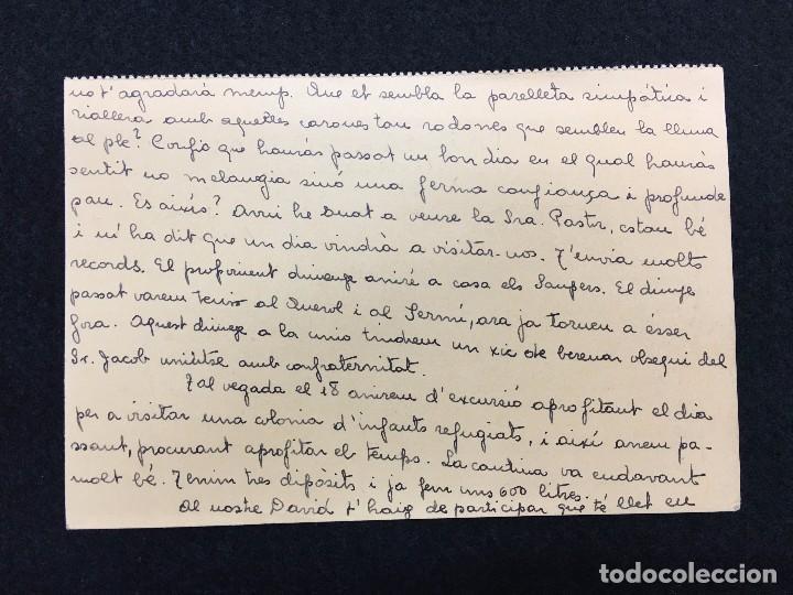 Postales: Targeta Postal. Servei Nacional. Milícies Antifeixistes de Catalunya. Escrita y Enviada. 1937. - Foto 2 - 74737315