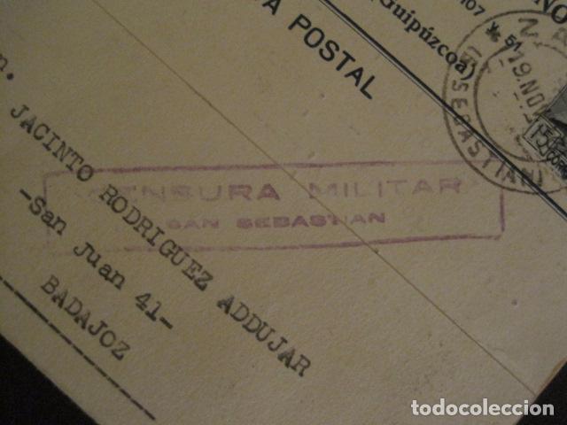 Postales: POSTAL PUBLICIDAD - ANTUÑANO -ZARAUZ - GUERRA CIVIL -CENSURA MILITAR 1936-VER FOTOS -(V-8828) - Foto 2 - 75257275