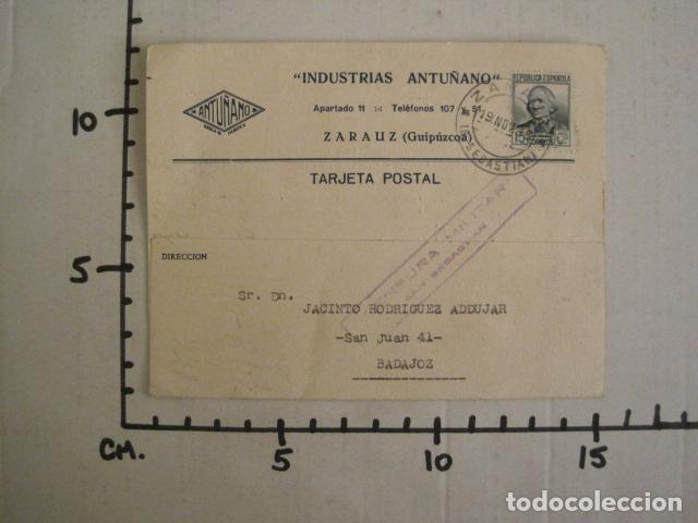 Postales: POSTAL PUBLICIDAD - ANTUÑANO -ZARAUZ - GUERRA CIVIL -CENSURA MILITAR 1936-VER FOTOS -(V-8828) - Foto 4 - 75257275
