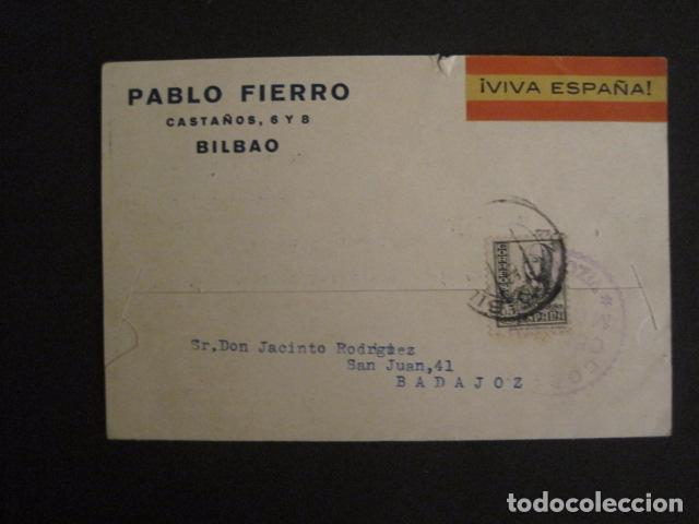 POSTAL PUBLICIDAD -PABLO FIERRO-BILBAO - GUERRA CIVIL -CENSURA MILITAR 1937-VER FOTOS -(V-8830) (Postales - Postales Temáticas - Guerra Civil Española)