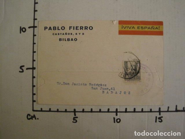 Postales: POSTAL PUBLICIDAD -PABLO FIERRO-BILBAO - GUERRA CIVIL -CENSURA MILITAR 1937-VER FOTOS -(V-8830) - Foto 4 - 75257435