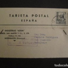 Postales: POSTAL PUBLICIDAD -ASAM -MONDRAGON - GUERRA CIVIL -CENSURA MILITAR 1937-VER FOTOS -(V-8831). Lote 75257491