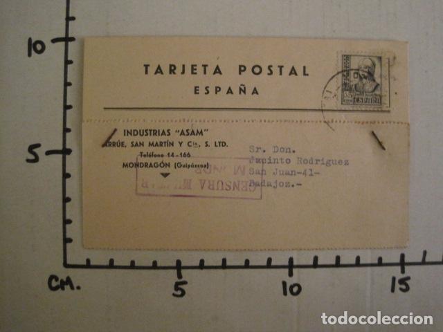 Postales: POSTAL PUBLICIDAD -ASAM -MONDRAGON - GUERRA CIVIL -CENSURA MILITAR 1937-VER FOTOS -(V-8831) - Foto 4 - 75257491