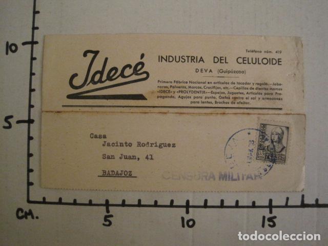 Postales: POSTAL PUBLICIDAD -IDECE -DEVA -CENSURA MILITAR 1938-VER FOTOS -(V-8832) - Foto 4 - 75257631