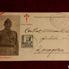 Postales: TARJETA POSTAL PATRIÓTICA NACIONAL GUERRA CIVIL. Lote 76481902