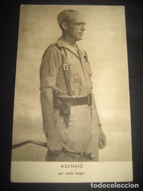 ASENSIO. POSTAL GENERALES DEL FRANQUISMO. GUERRA CIVIL. FOTOGRAFO JALON ANGEL ZARAGOZA (Postales - Postales Temáticas - Guerra Civil Española)
