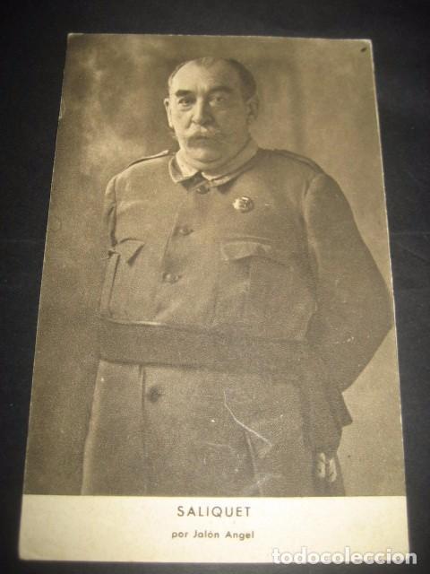 SALIQUET. POSTAL GENERALES DEL FRANQUISMO. GUERRA CIVIL. FOTOGRAFO JALON ANGEL ZARAGOZA (Postales - Postales Temáticas - Guerra Civil Española)