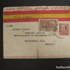 Postales: POSTAL CARTA PLEGABLE - VIVA ESPAÑA -ARRIBA ESPAÑA -SALUDO A FRANCO -AÑO 1937 -VER FOTOS-(V- 9530). Lote 78648709