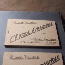 Postales: GUERRA CIVIL - BLOC Nº1 BLOC Nº2 - ALBUM SOUVENIR DE L'EXODE ESPAGNOLE DANS LES PYRÉNÉS ORIENTALES. Lote 266067908