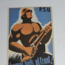 Postales: POSTAL PSU - HOMES FORTS , AL FRONT !!! - PSU - UGT , BUEN ESTADO. Lote 79047349