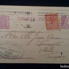 Postales: ENTERO POSTAL. REPÚBLICA ESPAÑOLA 15 CTS. + SELLO 5 CTS. CIRCULADA DE BARCELONA A VALLS TARRAGONA. Lote 81079632
