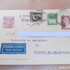 Postales: TARJETA POSTAL, REPÚBLICA ESPAÑOLA, MADRID 31 DE MARZO DE 1937, CORREO AÉREO, CIRCULADA. Lote 83036048