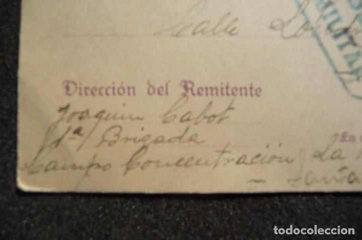 Postales: (JX-170436) Tarjeta postal enviada por prisionero Republicano Campo de Concentración de la Magdalena - Foto 2 - 85057924