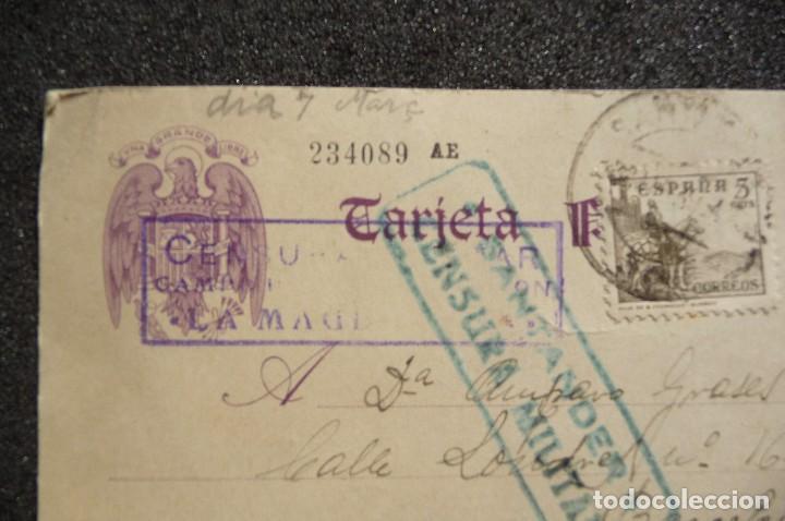 Postales: (JX-170436) Tarjeta postal enviada por prisionero Republicano Campo de Concentración de la Magdalena - Foto 3 - 85057924