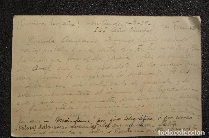 Postales: (JX-170436) Tarjeta postal enviada por prisionero Republicano Campo de Concentración de la Magdalena - Foto 4 - 85057924