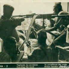 Postcards - BARCELONA. VIGILANDO LAS CARRETERAS. CNT. FAI. HACIA 1936.ESCRITA AL DORSO. - 86147720
