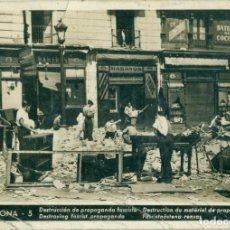 Postcards - BARCELONA. DESTRUCCION PROPAGANDA FASCISTA. CNT. FAI. HACIA 1936.ESCRITA AL DORSO. - 86148640