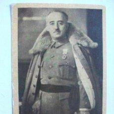 Postales: POSTAL DEL GENERALISIMO FRANCO CON MEDALLA MILITAR INDIVIDUAL, POR JALON ANGEL. Lote 86952568