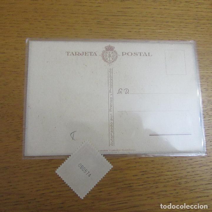 Postales: Lote postal y sello carlista requete guerra civil - Foto 2 - 87268064