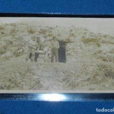 Postales: POSTAL FOTOGRAFICA GUERRA CIVIL FRENTE DE ARAGON (MONTALBAN ) TERUEL 14X9 CM.. Lote 93689665