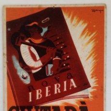 Postales: POSTAL ORIGINAL GUERRA CIVIL DE ESPAÑA DE LA GENERALITAT DE CATALUNYA. CARTEL REVISTA NOVA IBERIA. Lote 96508422