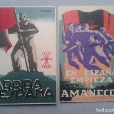 Postales: LOTE DE 2 POSTALES PATRIÓTICAS ANTIGUAS.. Lote 96537287
