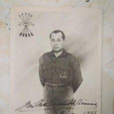 Postales: JOSÉ ANTONIO PRIMO DE RIVERA. FIRMADA. 1915. Lote 98946883