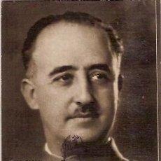Postales: TARJETA POSTAL EL GENERALISIMO FRANCO POR JALON ANGEL MATASELLOS DELEGACIION PROVINCIAL EXCOMBATIEN. Lote 102791919