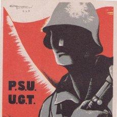 Postales: WP526 SPAIN ESPAÑA GUERRA CIVIL WAR PSU UGT AVANT. Lote 102798939