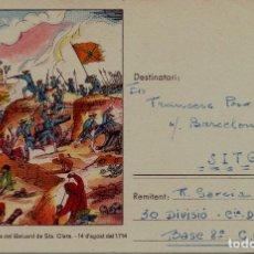 Postales: TARJETA POSTAL CAMPAÑA 1939 30 DIVISION TRANSMISIONES RARA GUERRA CIVIL. Lote 108383571