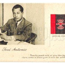 Postales: TARJETA POSTAL PATRIÓTICA JOSE ANTONIO PRIMO DE RIVERA. FALANGE GUERRA CIVIL.. Lote 49907694