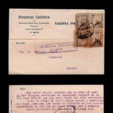 """Postales: C10-3-20 GUERRA CIVIL POSTAL CON PUBLICIDAD, """"LAF"""" POSTAL Y PEGAMENTO PATENTADO, CIRCULADA DE VIGO. Lote 110001995"""