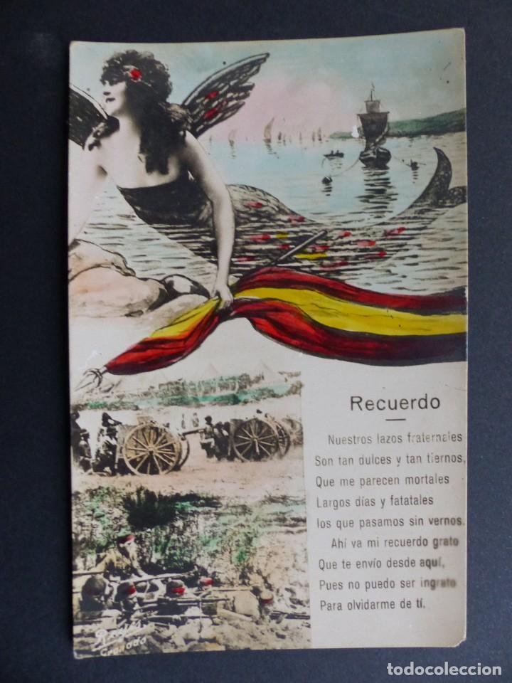 RECUERDO, NUESTROS LAZOS FRATERNALES (Postales - Postales Temáticas - Guerra Civil Española)