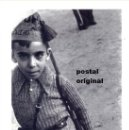 Postales: POSTAL FOTO ROBERT CAPA NIÑO CON GORRILLO MILICIANO UHP GUERRA CIVIL 1936 . Lote 110677503