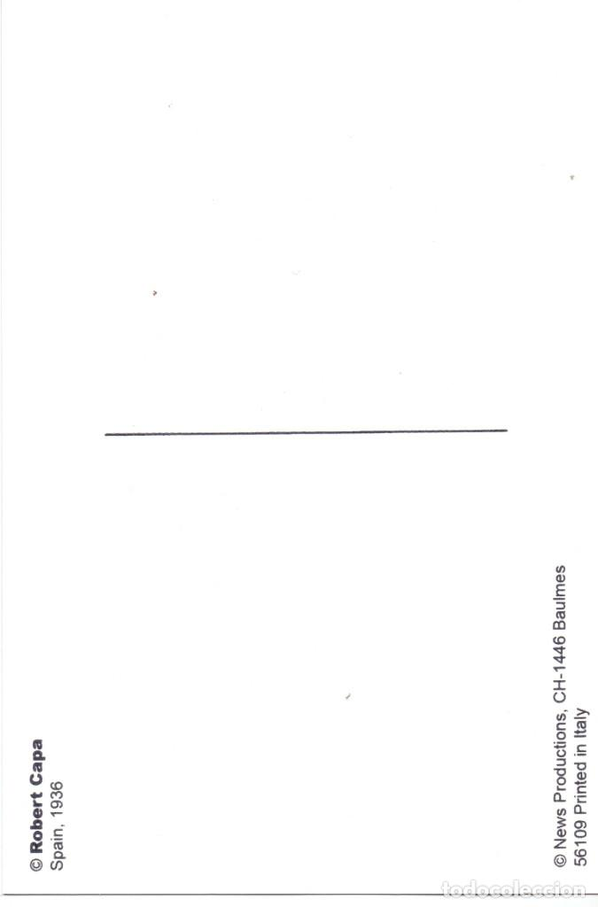 Postales: POSTAL FOTO ROBERT CAPA NIÑO CON GORRILLO MILICIANO UHP GUERRA CIVIL 1936 - Foto 2 - 110677503