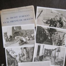 Postales: FRENTE ARAGON- FRONT ARAGO-SOBRE CON 6 POSTALES GUERRA CIVIL-GENERALITAT - VER FOTOS - (51.879). Lote 111634031