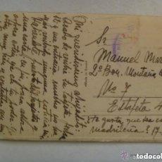 Postales: POSTAL DE MADRID CIRCULADA AL 2º BATALLON DE MONTAÑA ARAPILES, JUNIO DEL 39 , CENSURA MILITAR. Lote 112763627