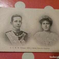 Postales: TARJETA POSTAL DE ALFONSO XIII Y REINA VICTORIA EUGENIA. Lote 112953099