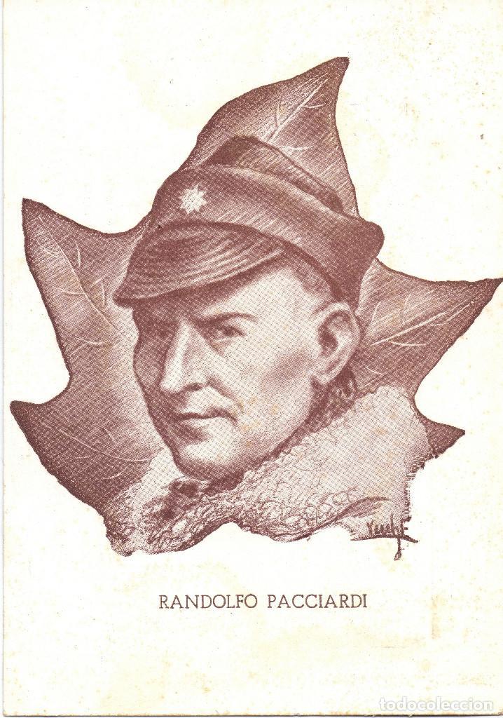 RANDOLFO PACCIARDI BATALLON GARIBALDI JEFE XII BRIGADA INTERNACIONAL GUERRA CIVIL (Postales - Postales Temáticas - Guerra Civil Española)