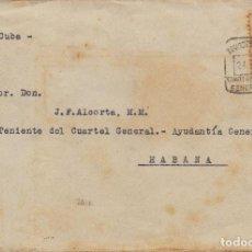 Postales: RARO SOBRE DESTINO HABANA(CUBA) MATASELLOS CUARTEL GENERAL GENERALISIMO FRANCO GUERRA CIVIL. Lote 113652819