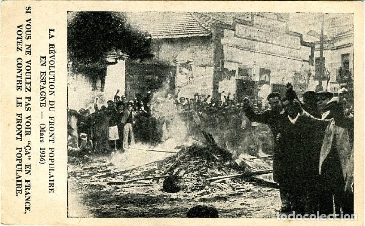 GUERRA CIVIL. LA REVOLUCION DEL FRENTE POPULAR EN ESPAÑA. (MARZO 1936) SAQUEO DE UNA CASA...... (Postales - Postales Temáticas - Guerra Civil Española)